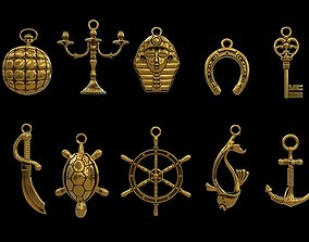 Pendant Jewelry collection 3D model