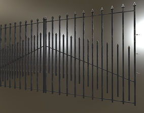 3D model Iron Black or Silver Gate Fence PBR