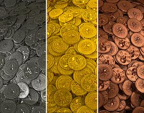 Aztec Coins - Game Textures 3D