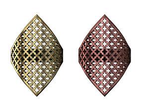 Moroccan moucharabieh motif ring 3D printable model