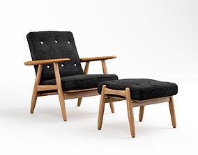 Getama GE 240 easy chair 3D