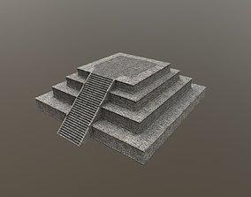 3D asset Mayan pyramid ruins