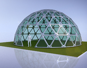 Triangulated 3D dome geodesic dome like