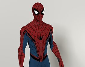 rigged Spiderman Homecoming 3D Model
