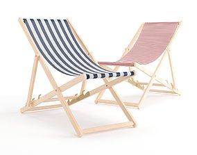 3D model Deck Chair chair