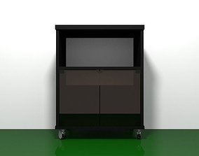 3D model TV Stand 002 - 1970s - 1980s