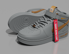 Air Force One Nike Shoes High Poly Mesh 3D model
