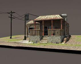 Zombie House Post Apocalyptic Ruin 3D model VR / AR ready