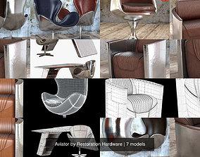 Aviator by Restoration Hardware 3D armchair