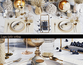 Luxury table setting W 3D asset