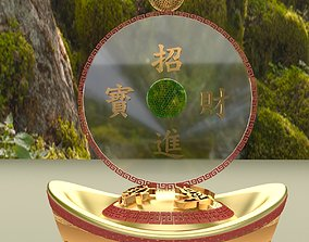 yuanbao 3D model Chinese Gold Ingot