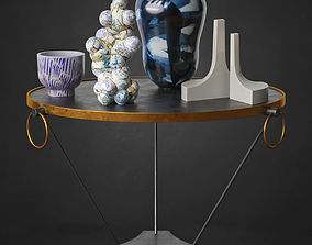 Cocktailtable With Vases 3D model