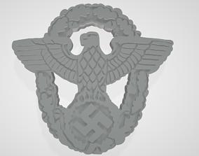 WW2 German Nazi Police Polizei Cap 3D printable model 1