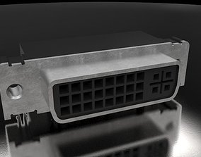 3D model DVI socket PCB mount1