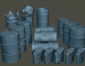 www2 German Fuel drums and fuel tanks 3D printable model