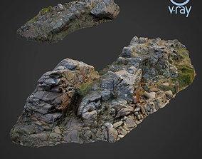 game-ready 3d scanned rock cliff A
