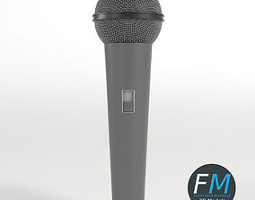3D model Traditional Microphone