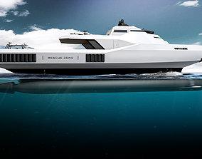 3D model Concept Swath Rescue Boat