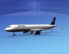 3D model Airbus A321 Lufthansa