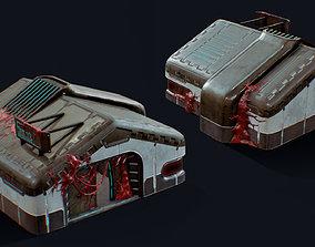 Doomed Hangar 3D asset
