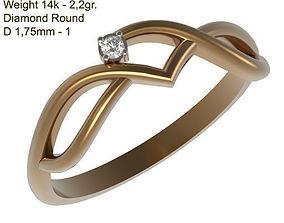 Ring MR-4 Woman Jewelry STL 3d print