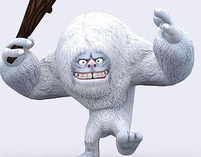 animated 3DRT-Toon Yeti monster