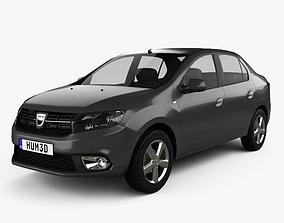 Dacia Logan sedan 2016 3D