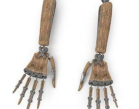 3D asset Steampunk Robot Hand Rig