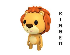 3D model Rigged Lion