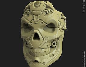 3D print model robotic skull vol 13 ring hard-surface