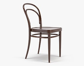 Photorealistic Thonet Chair 214 Brown 3D asset game-ready