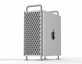 computer 3D model Apple Mac Pro 2019