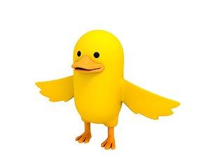 3D model Yellow Duck Character