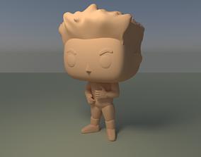 Custom Pop Man Angry Face 3D Print Collectable custom