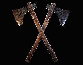 3D model low-poly Axe - viking axe- Dane axe