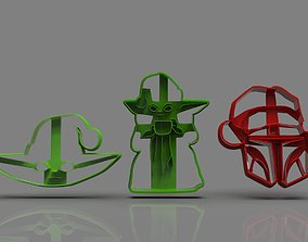 The Mandalorian cookie cutter Xmas 3D printable model