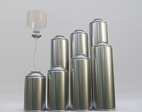 3D Components of spray cans