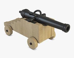 3D model projectile Vessel Cannon