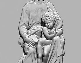 madonna of Bruges Michelangelo 3D printable model