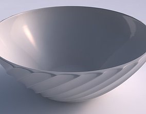 3D print model Bowl wide with extruded vertical lines