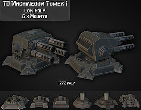 TD Machinegun Tower 01 3D model