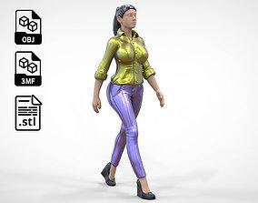 3D print model N1 Walking woman 1 64 Miniature