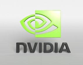 Nvidia Logo v1 001 3D model