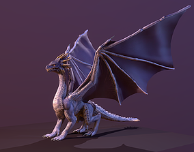 Stylized Purple Dragon 3D