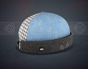 3D asset Blue Jeans Brimless Cap