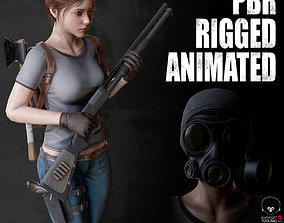 3D model Female Survivor