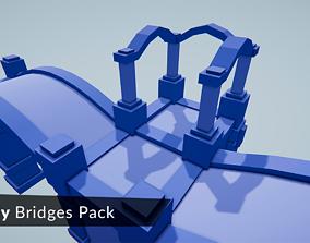 LowPoly Bridges Pack 3D asset