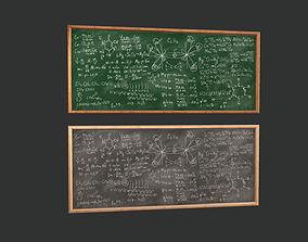 Chemistry Chalkboard Game Ready 3D asset