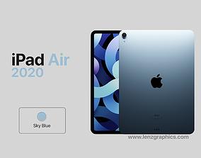 Sky Blue 2020 iPad Air 11 inch 3D model