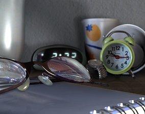 3D asset game-ready Room Desk Still Life Scene